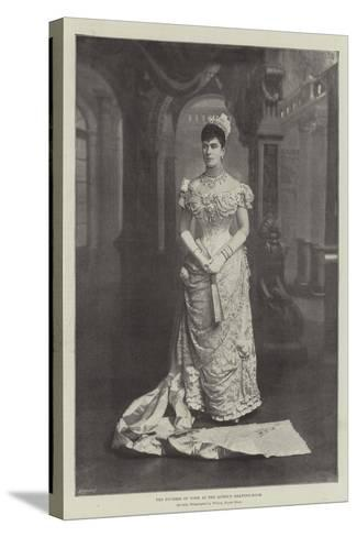 The Duchess of York at the Queen's Drawing-Room--Stretched Canvas Print