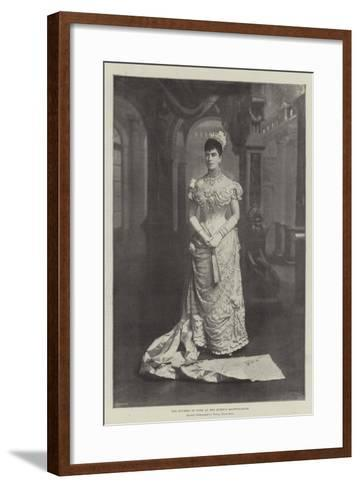 The Duchess of York at the Queen's Drawing-Room--Framed Art Print