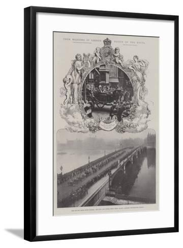 Their Majesties at Various Points of the Route--Framed Art Print