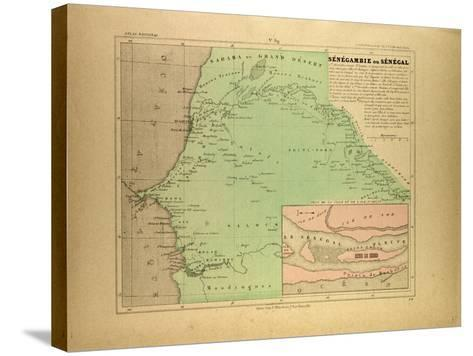 Map of Senegal--Stretched Canvas Print