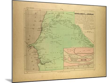 Map of Senegal--Mounted Giclee Print