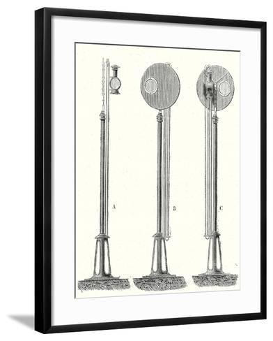 Railway Signal--Framed Art Print
