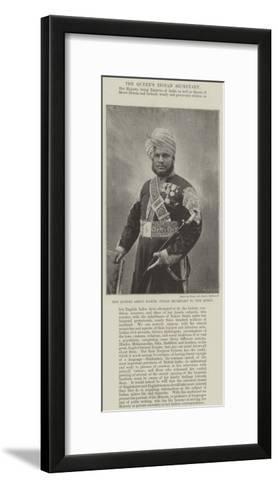 The Munshi Abdul Harim, Indian Secretary to the Queen--Framed Art Print
