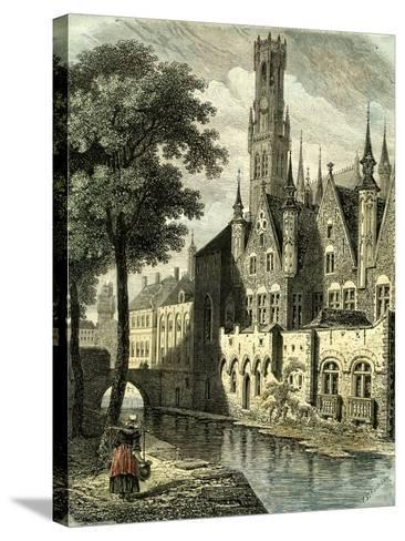Bruges Belgium--Stretched Canvas Print