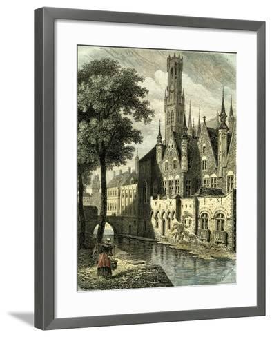 Bruges Belgium--Framed Art Print