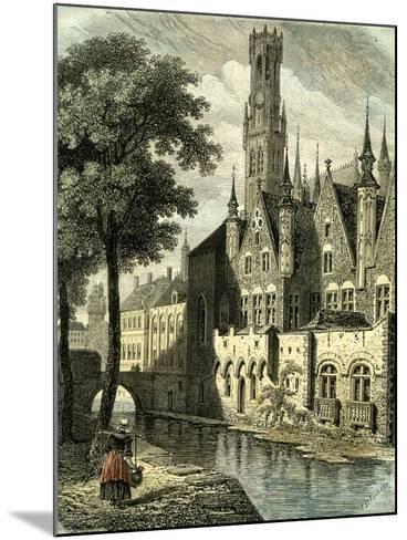 Bruges Belgium--Mounted Giclee Print