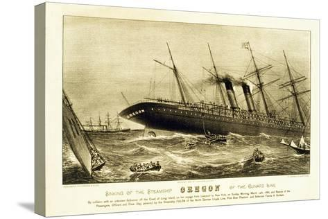 Sinking of the Steamship Oregon of the Cunard Line, Pub. C.1886--Stretched Canvas Print