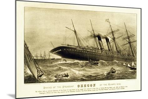 Sinking of the Steamship Oregon of the Cunard Line, Pub. C.1886--Mounted Giclee Print