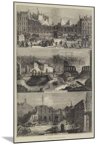Demolition of Northumberland House--Mounted Giclee Print