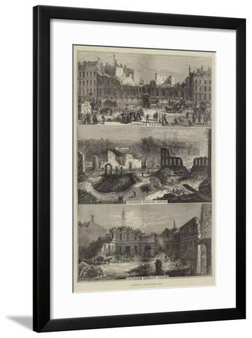 Demolition of Northumberland House--Framed Art Print