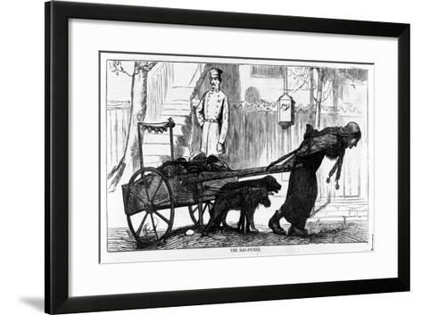 The Rag Picker, Pub. 1870--Framed Art Print