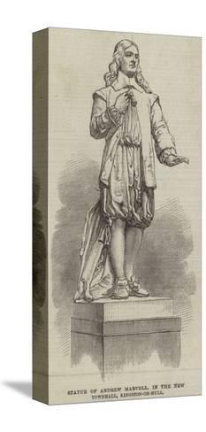 Statue of Andrew Marvell, in the New Townhall, Kingston-On-Hull--Stretched Canvas Print