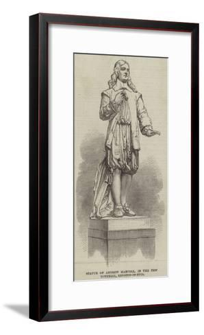 Statue of Andrew Marvell, in the New Townhall, Kingston-On-Hull--Framed Art Print
