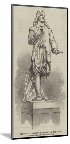 Statue of Andrew Marvell, in the New Townhall, Kingston-On-Hull--Mounted Giclee Print
