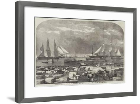 Embarkation of Cattle at Trieste for the Auxiliary Army in the East--Framed Art Print