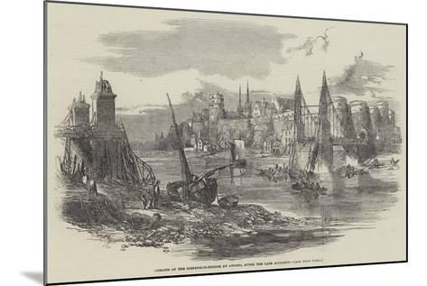 Remains of the Suspension-Bridge at Angers, after the Late Accident--Mounted Giclee Print