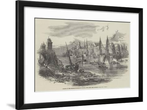 Remains of the Suspension-Bridge at Angers, after the Late Accident--Framed Art Print