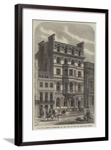 The Civil Service Clubhouse, on the Site of the Old Thatched House--Framed Art Print