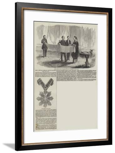 Lieutenant Montagu O'Reilley's Private Audience with the Sultan--Framed Art Print