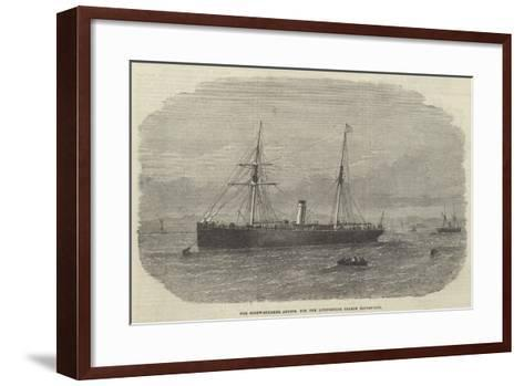 The Screw-Steamer Abydos, for the Livingstone Search Expedition--Framed Art Print