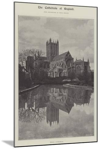 Wells Cathedral--Mounted Giclee Print