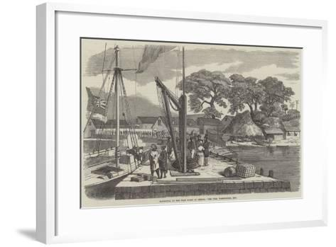 Matacong, on the West Coast of Africa, the Pier, Warehouses, Etc--Framed Art Print