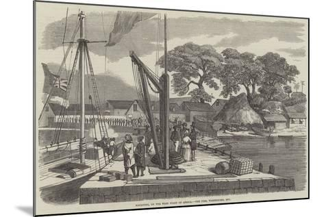 Matacong, on the West Coast of Africa, the Pier, Warehouses, Etc--Mounted Giclee Print