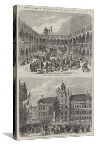 Grand Festival of the Municipality and Royal Academy of Antwerp--Stretched Canvas Print