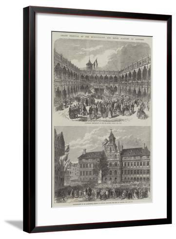 Grand Festival of the Municipality and Royal Academy of Antwerp--Framed Art Print