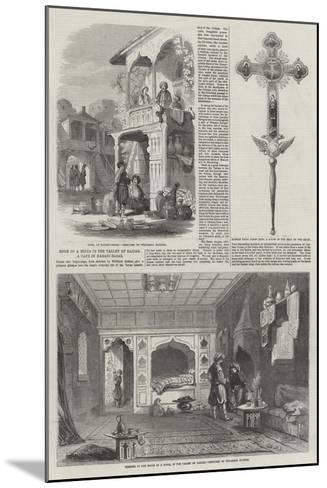 Room of a Mirza in the Valley of Baidar, a Cafe in Karasu-Bazar--Mounted Giclee Print