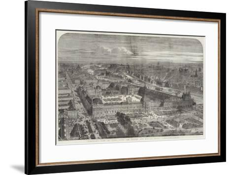 Panoramic View of Paris, with the Louvre and Rue De Rivoli Completed--Framed Art Print