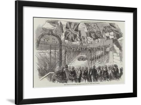 The Ceremony of Laying the Foundation-Stone of a New Dock at Malta--Framed Art Print