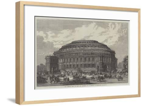 The Central Hall of Arts and Sciences, to Be Erected at Kensington--Framed Art Print