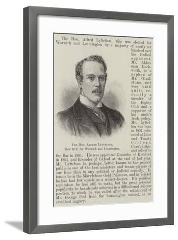 The Honourable Alfred Lyttelton, New Mp for Warwick and Leamington--Framed Art Print