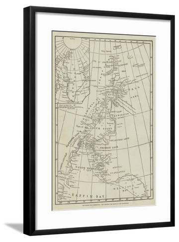 The North Pole Exhibition, Map Showing the Route of the Expedition--Framed Art Print