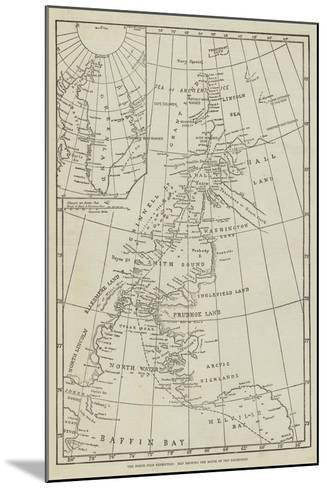 The North Pole Exhibition, Map Showing the Route of the Expedition--Mounted Giclee Print