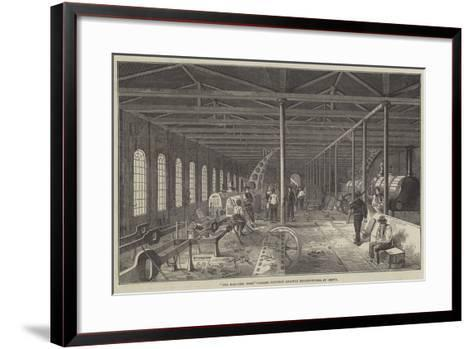 The Erecting Shop, Grand Junction Railway Engine-Works, at Crewe--Framed Art Print