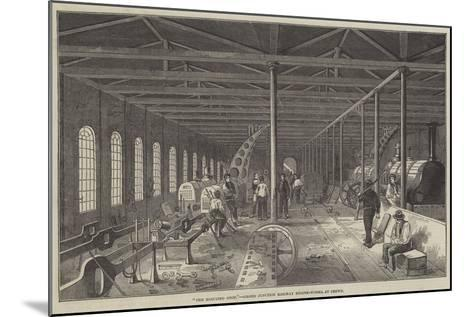 The Erecting Shop, Grand Junction Railway Engine-Works, at Crewe--Mounted Giclee Print