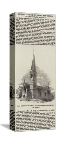 Consecration of St Mark's New Church, Tollington Park, Holloway--Stretched Canvas Print