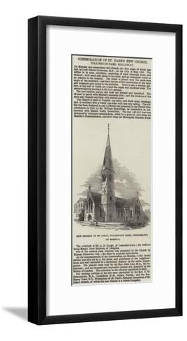 Consecration of St Mark's New Church, Tollington Park, Holloway--Framed Art Print