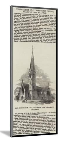 Consecration of St Mark's New Church, Tollington Park, Holloway--Mounted Giclee Print