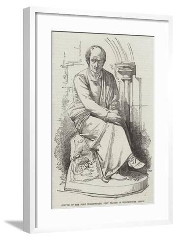 Statue of the Poet Wordsworth, Just Placed in Westminster Abbey--Framed Art Print