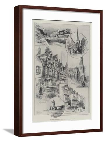 The British Association at Bristol, Views in and About the City--Framed Art Print