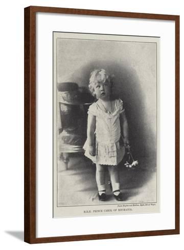 Hrh Prince Carol of Roumania--Framed Art Print