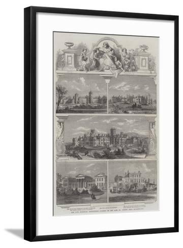 The Five Principal Institutions Founded by the Late Dr Andrew Reed--Framed Art Print