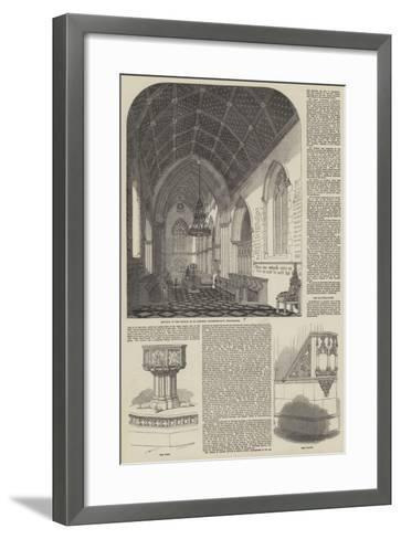 Consecration of the Church of St Stephen the Martyr in Westminster--Framed Art Print