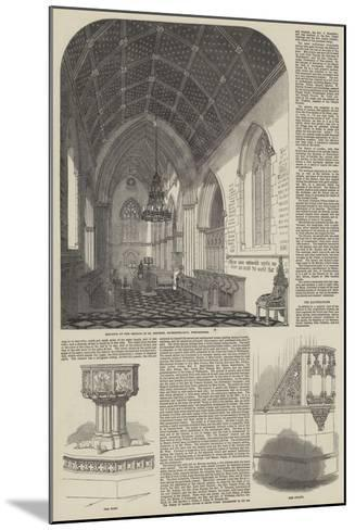 Consecration of the Church of St Stephen the Martyr in Westminster--Mounted Giclee Print