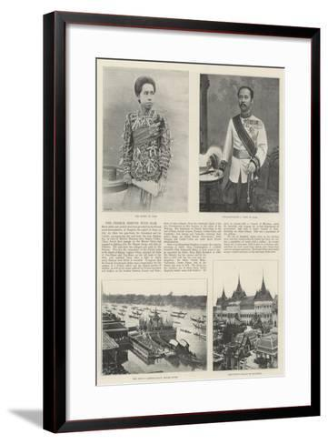 The French Dispute with Siam--Framed Art Print