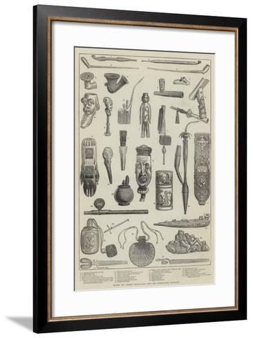 Ancient and Curious Tobacco-Pipes, from the International Exhibition--Framed Art Print