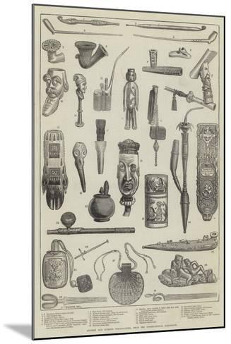 Ancient and Curious Tobacco-Pipes, from the International Exhibition--Mounted Giclee Print